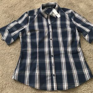 New York & Co. Button Down Short Sleeve Shirt